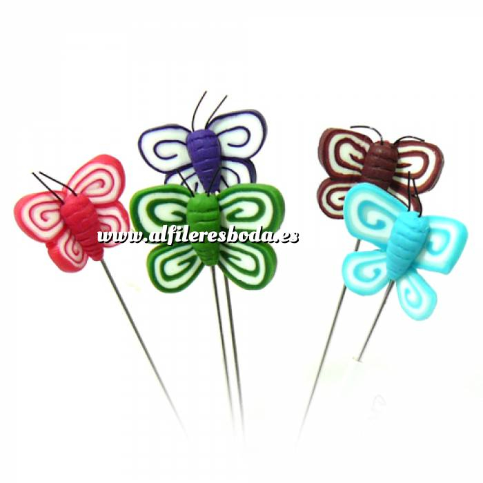 Imagen Alfileres fimo Alfiler clásico Fimo 05 (mariposas colores)