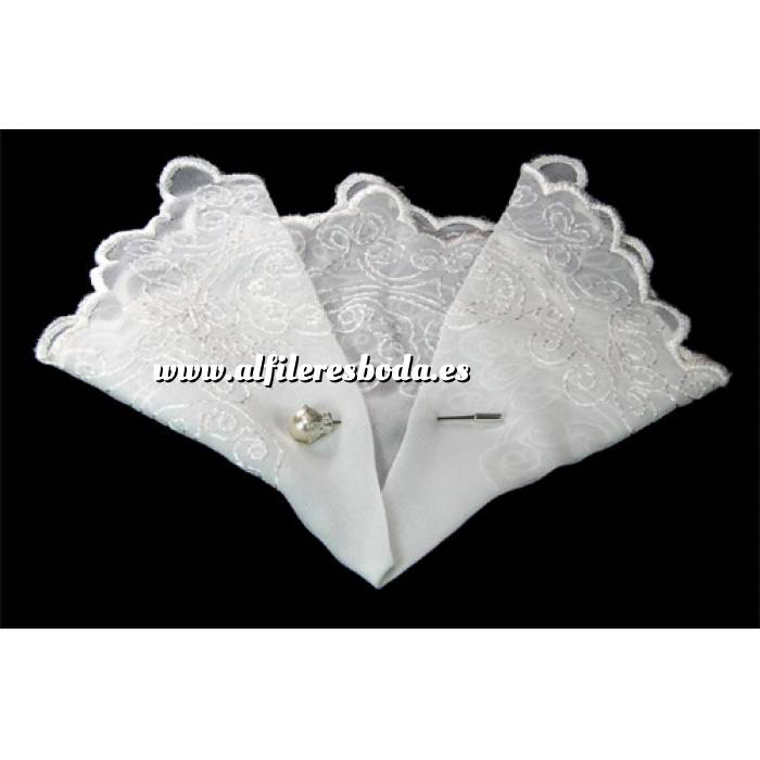 Presentaciónes elegantes de alfileres de boda Alfiler especial 06 sobre Pañuelo para alfiler mod. 02