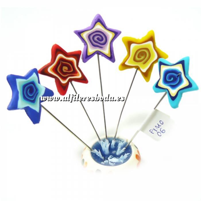 Imagen Alfileres fimo Alfiler clásico Fimo 06 (estrellas colores)