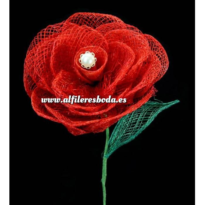 Presentaciónes elegantes de alfileres de boda Alfiler especial 06 sobre rosa individual color rojo