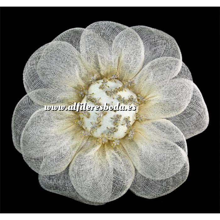 Presentaciónes elegantes de alfileres de boda alfiler especial 77 sobre Bouquet margarita para alfileres Beige (A)